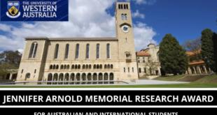 Murdoch University (MU) International Jennifer Arnold Memorial Research Awards