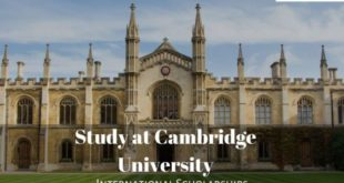 University Of Cambridge PhD Scholarship